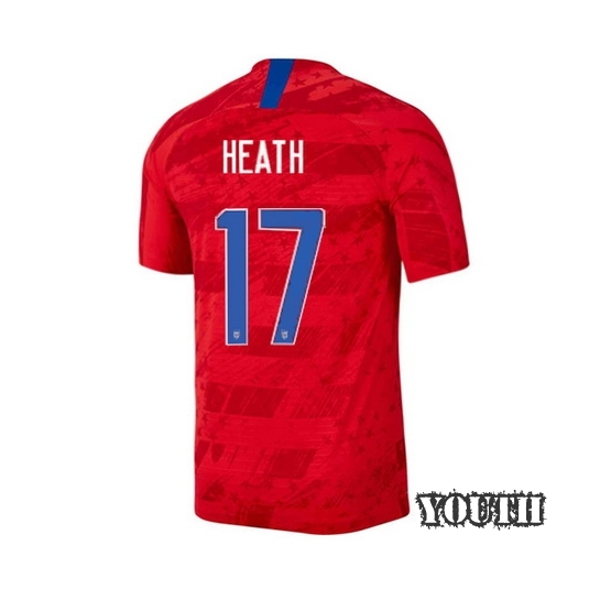 2019/20 USA Away Tobin Heath Youth Soccer Jersey (#17)